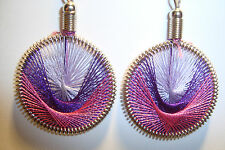 Peruvian Alpaca Silver & Handmade Dreamcatcher Thread  Earrings~NT8~uk seller