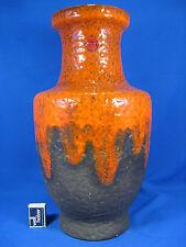 70´s design Bay pottery Keramik floor vase  orange & purple Lava glaze 570 - 45