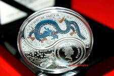 2012 - 2 x $1 Lunar Yin & Yang Fiji oz Silver Year of the Dragon