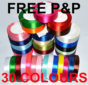 10mm 16mm 25mm SATIN RIBBON LOTS OF COLOUR BEST QUALITY 1 2 4 meters