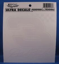 """DALE EARNHARDT #3 ULTRA DECAL 5""""x5"""" REMOVABLE REUSABLE NEW WINCRAFT"""