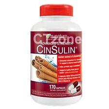 170 Trunature Advanced Strength CinSulin Cinnamon Blood Glucose 170 Capsules