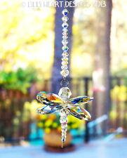 m/w Swarovski Crystal Aurora Borealis Dragonfly SunCatcher Lilli Heart Designs