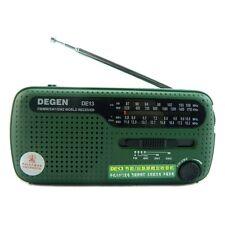 New DEGEN DE13 FM/MW/SW Crank Dynamo Solar Emergency Radio World Receiver Alarm
