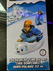 Wham-O 44-Inch Snow Boogie Polar Bear Snow Tube NIB Sledding, Winter inflatable