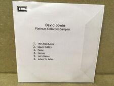 David Bowie Platinum Collection  Sampler CD Promo
