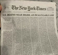 THE NEW YORK TIMES NEWSPAPER SUNDAY MAY 24, 2020 1000 NAMES, Late Edition