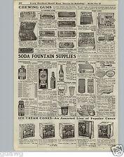 1920 PAPER AD Soda Fountain Supplies Orange Crush Dispenser Chewing Gum Movie