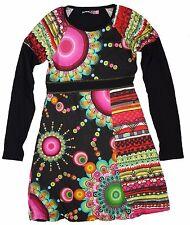 Desigual Girls Dress Size-13/14 years Pretty Long Sleeve Printed Cotton