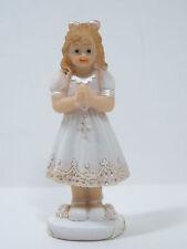 Kommunionfigur Mädchen 8cm Kommunionkind Kommunionmädchen Tortenfigur