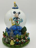 "Vintage Disney 2000 Snow Globe / Music Box  ""Celebrate The Future"" Mickey Mouse"