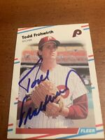 1988 FLEER TODD FROHWIRTH (DECEASED) AUTOGRAPHED CARD