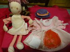 lot=5piéces,vétements poupées 15-18cm    +doudou  bébé