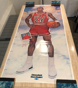 MICHAEL JORDAN 1988 Chicagoland Chevy Dealers 76x35 Life-Size Promo Poster