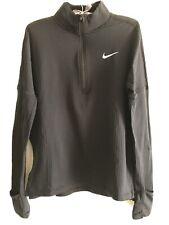 Nike black half zip thermal long sleeve top size S small running