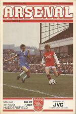 Football Programme - Arsenal v Huddersfield Town - League Cup - 30/11/1982