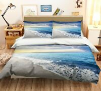 3D Blue Ocean Beach Cloud KEP9266 Bed Pillowcases Quilt Duvet Cover Kay