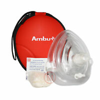 Ambu Res-Cue Mask Professional CPR Pocket Resuscitator Mask NEW Rugged Case