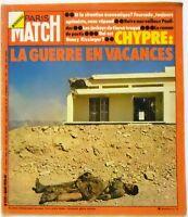 Paris Match N° 1317 - 3 aout 1974 - La guerre en vacances, Pastis