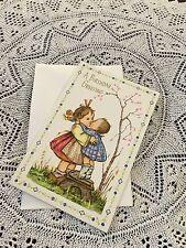 Vintage Greeting Card Birthday Girl Sisters Cute Friends