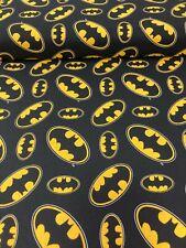"Batman Logo, 100% Cotton Fabric, 44"" Wide, By Meter, Half Meter, Fat Quarter"
