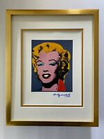 ANDY WARHOL 1984 SIGNED MARILYN MONROE MATTED TO BE FRAMED AT 11X14