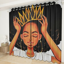 African Woman Series Living Room Bedroom Curtain 2 Panels Set Grommet Top