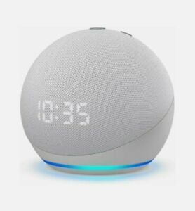 Amazon Echo Dot (4th Generation) Smart Speaker with Clock and Alexa - White