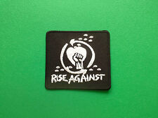 HEAVY METAL PUNK ROCK MUSIC FESTIVAL SEW ON / IRON ON PATCH:- RISE AGAINST BLACK