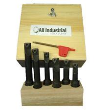 6 Pc 58 Indexable Boring Bar Set Lathe Round Shank Bars