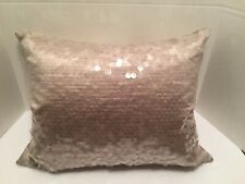 DKNY Taupe Sequin Down Feather Pillow Donna Karan 16 x 20