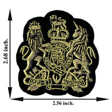 Gold Lion Unicorn Animal Applique Iron on Patch Sew For T-shirt Jeans Cap Hat