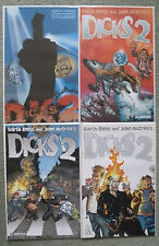 DICKS 2 #1-4 SET..GARTH ENNIS/JOHN McCREA..AVATAR 2002 1ST PRINT..VFN+
