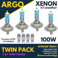 4x H7 501 100w Super White Xenon Effect High/low/side Light Beam Headlight Bulbs