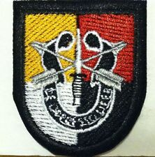 3rd Special Forces Group Flash with Crest SFG Military Iron-On Embroidered Patch