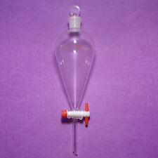 500ml,24/29,Pyriform Separatory Funnel,Drop Tube,PTFE Stopcock,Glass Stopper
