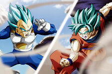 Dragon Ball Super Vegeta Blue vs Goku Blue 12inx18in Poster Free Shipping