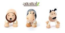 Bruins-Hippo-Mustang All Natural Anamalz Toy Farm Animals 3PCS New Boys&Girls