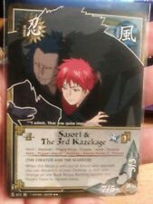 Naruto CCG Sasori & The 3rd Kazekage 673 RARE Foil