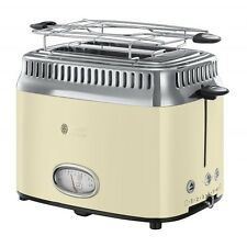 Russell Hobbs Retro Vintage Cream Toaster Cream Stainless Steel 1.300 Watt Stop Button