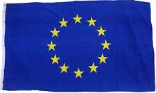 XXL Flagge Europa 250 x 150 cm mit 3 Metallösen Hissfahne EU Fahne Sturmflagge