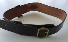 BROWN LEATHER BRITISH ARMY OFFICERS SAM BROWNE BELT - Size 1 , British Army