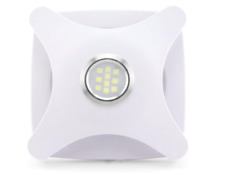 More details for led bathroom extractor fan ceiling or wall  100mm 4