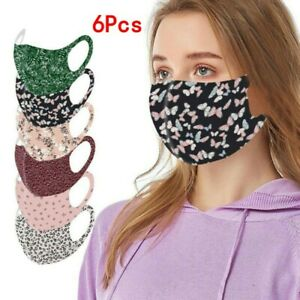 6x Colorful Outdoor Unisex Mouth Face Cover Washable Reusable Mask Virus Protect