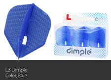 L-Style Dimple Champagne Small Standard Dart Flight Blue set of 3 Flights