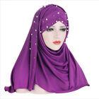Muslim Women Pull On Ready Instand Hijab Head Scarf Cap Turban Shawl Hat Cover