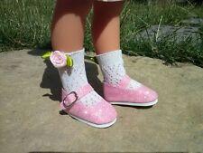 Chaussures paillettes rose pour poupée les chéries corolle camille clara chloé