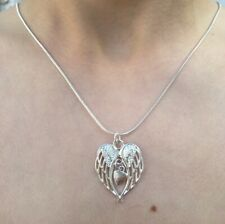Sterling Silver Necklace With Angel Wings Pendant