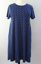 2XL XXL LuLaRoe Carly Dress Beautiful Two Tone Blue Navy Geometric NWT 362