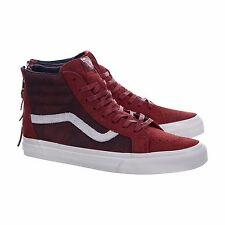 Vans Sk8 Hi Zip DX Mens Size 11 Varsity Red OTW NIB Leather Suede Deluxe Skate